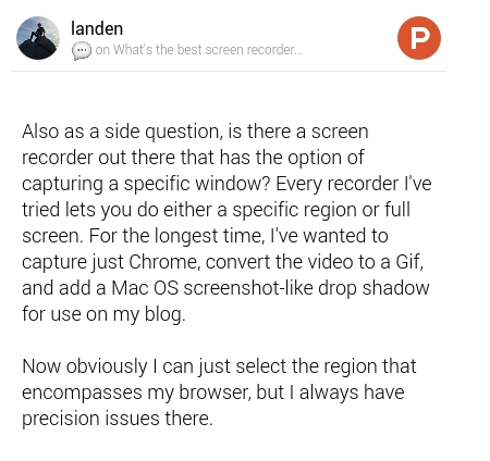Comment on What's the best screen recorder app for macOS? by
